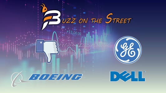 """The latest """"Buzz on the Street"""" Show: Featuring our Market Recap (NASDAQ: FB) (NYSE: BA DELL GE)"""