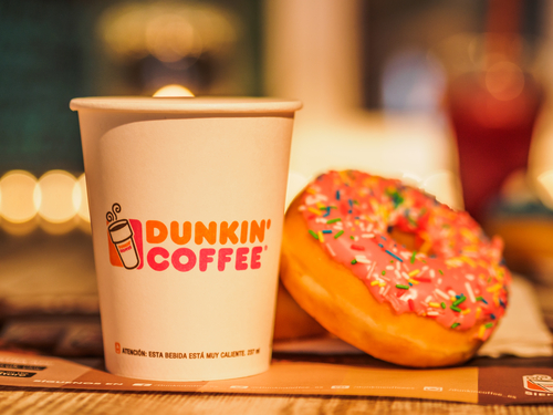 Dunkin Donuts offers delivery service through Grubhub