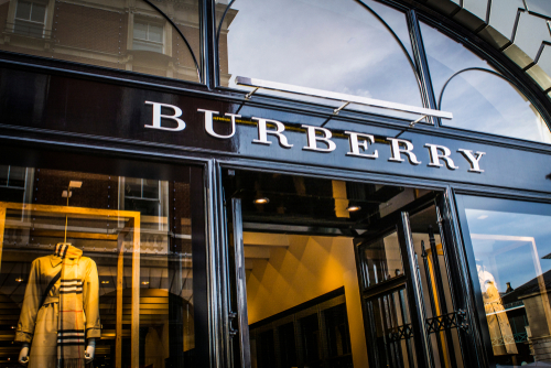 Luxury Goods Designer Burberry Shares Boosted from New Collections
